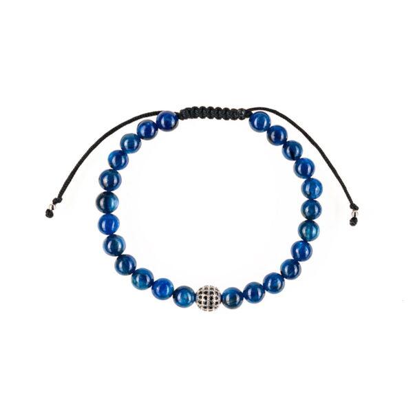 Bratara barbati cu pietre semipretioase lapis lazuli este impletita manual. Bratara de barbati cu pietre semipretioase lapis lazuli este ambalata intr-o cutie cadou si poate fi cadoul ideal pentru o zi aniversara sau onomastica.